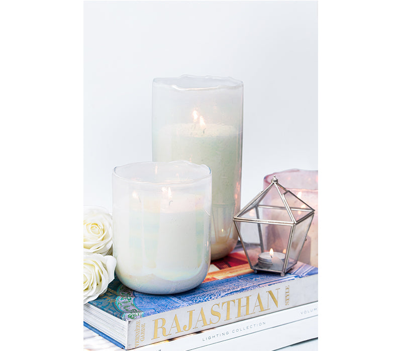 Lustre Hurricane | White Pearl | scented candle