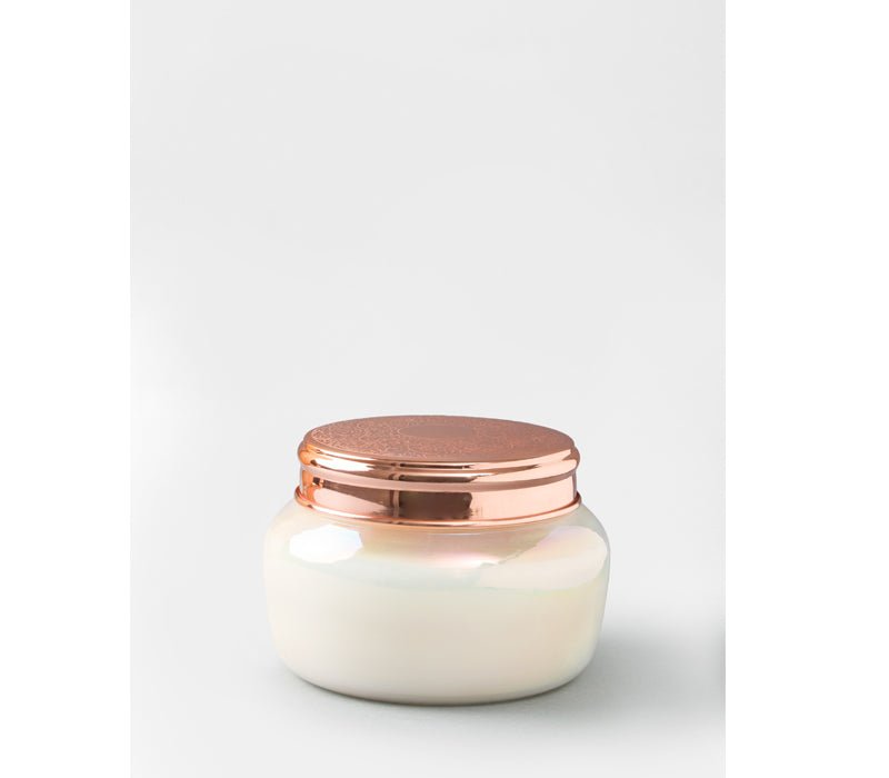 Lustre Lid Jar | White Pearl | scented candle