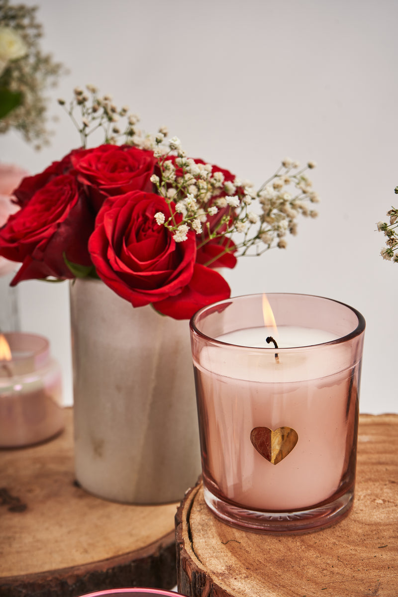 Pink Heart Votive | Scented Candle
