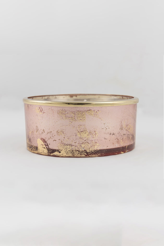 Rose Gold Foiled Flat Bowl scented candle