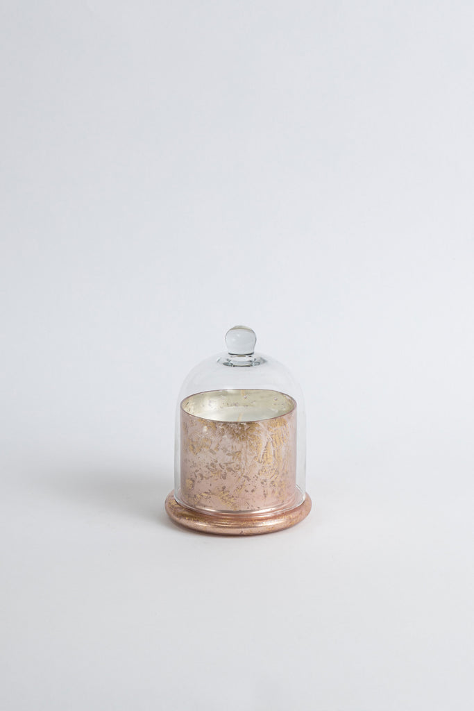 Rose Gold Foiled Bell Jar scented candle