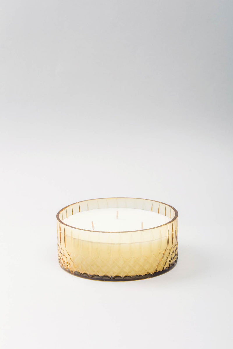 Royal Flat Bowl | Amber | scented candle