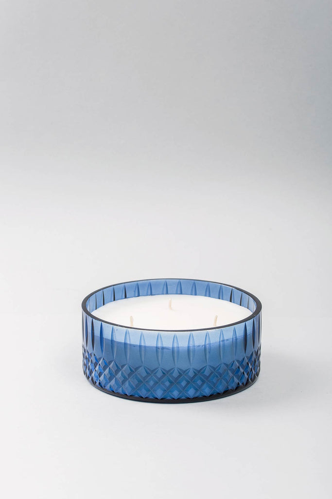 Royal Flat Bowl | Sapphire | scented candle