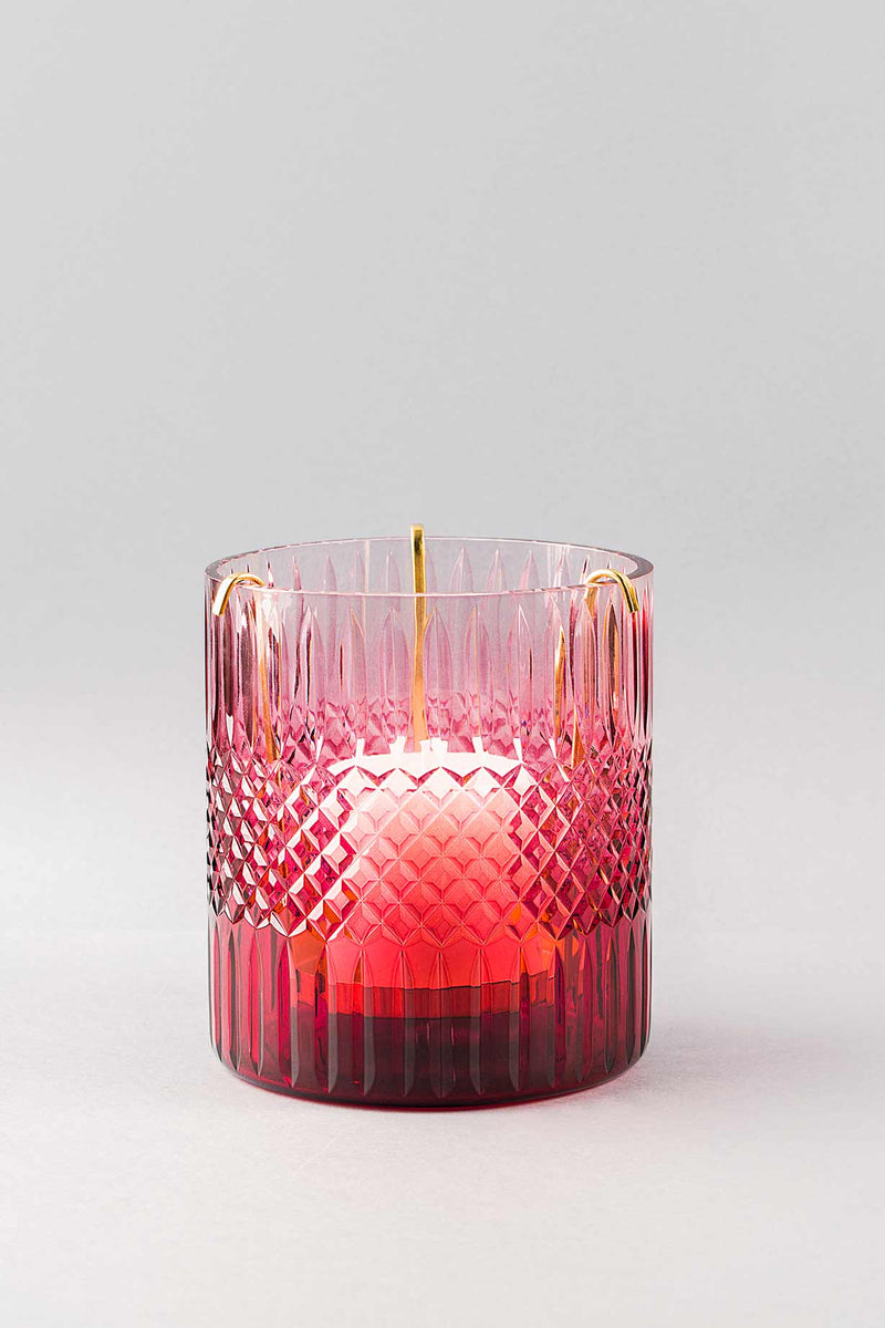 Royal Cut Glass Hurricane | Ruby