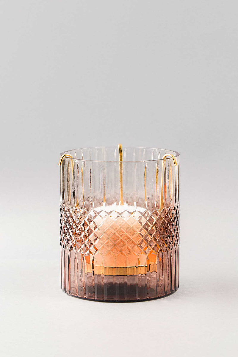 Royal Cut - Glass Hurricane Scented Candle | Onyx