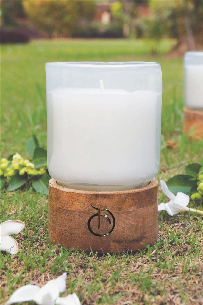 Citronella Scented Candle- White