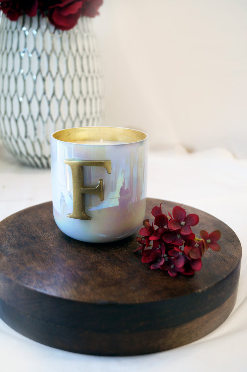 Initial F | Scented Candle