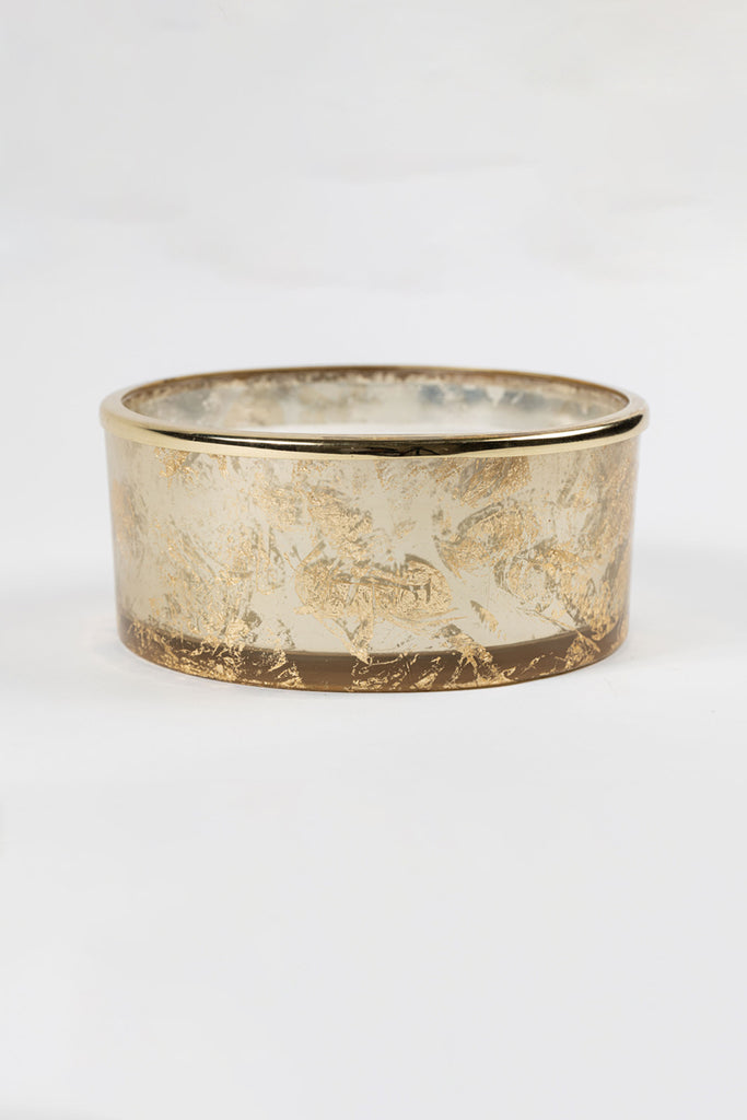 Gold Foiled Flat Bowl scented candle