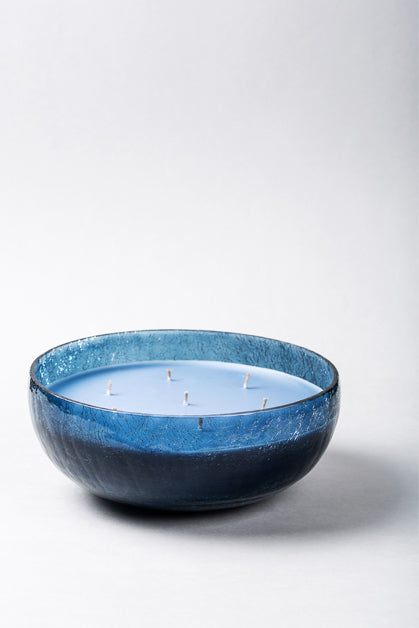 Crackled Bowl | Blue | scented candle