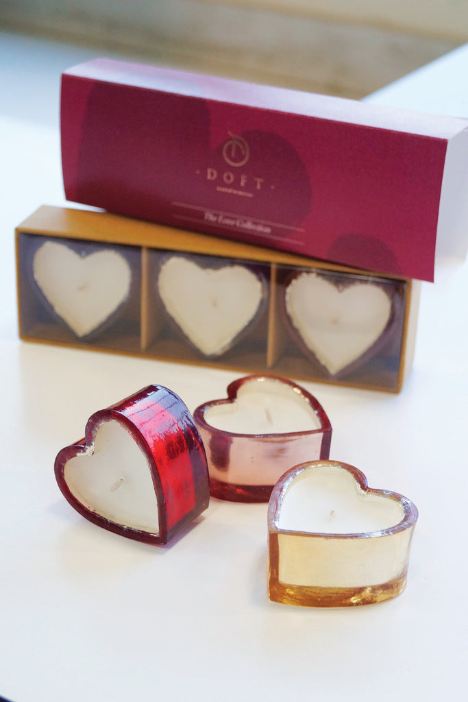 Mini Hearts - Set of 3 scented candles