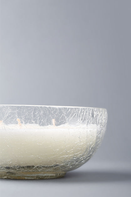 Crackled Bowl | Clear | scented candle