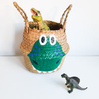 Green Dinosaur Storage Basket