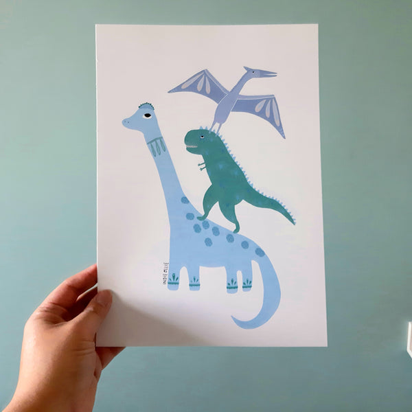 Dinosaur Tower Print