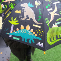 Colour changing dinosaur umbrella - after