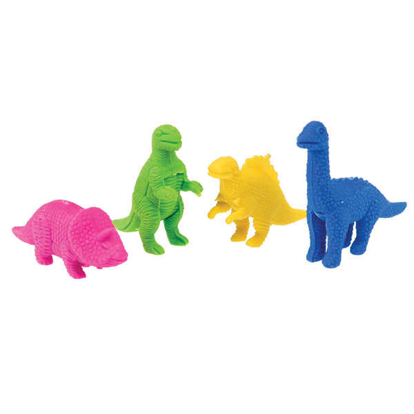 Prehistoric Land Dinosaur Erasers (Set of 4)