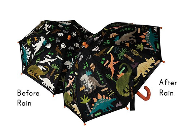 Colour changing dinosaur umbrella