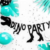 Dinosaur Party Silouette Banner