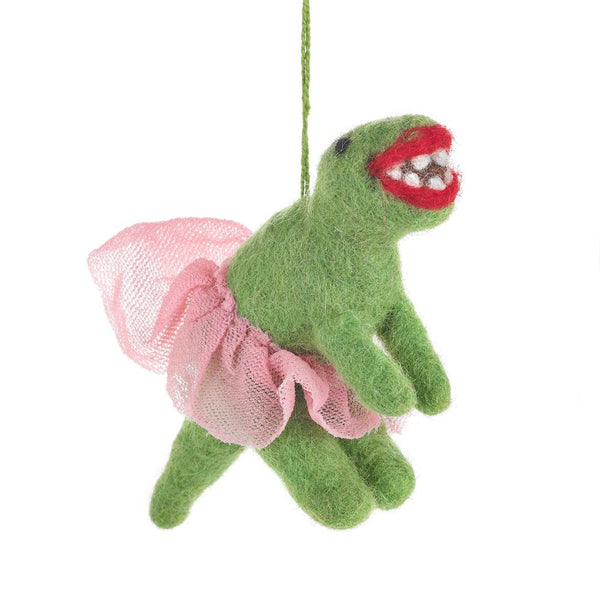 Felt T-Rex Ballerina hanging decoration