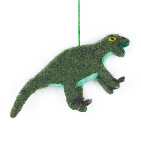 Felt Velociraptor Hanging Decoration