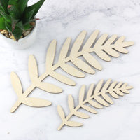 Wooden Fern Leaf Decoration - 2 sizes available