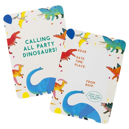 Little Party Dino Party Invitations 8 Pack