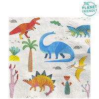 Little Party Dino Party Napkins 20 Pack