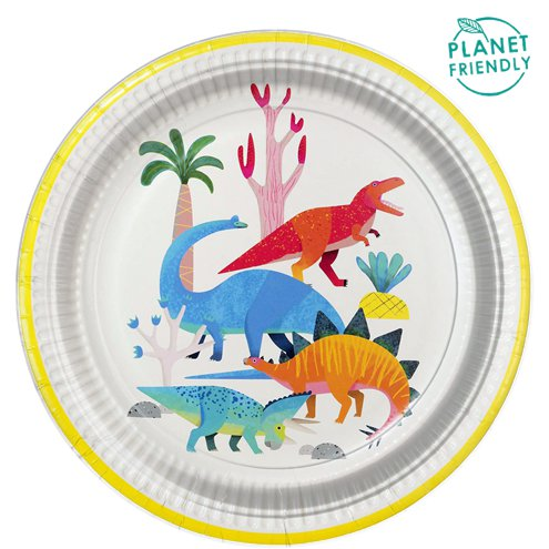 Little Party Dino Party Plates 8 Pack