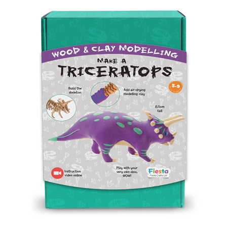 Wood & Clay Kit - Make a Triceratops