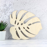 Wooden Monstera Leaf Decoration - 2 sizes available