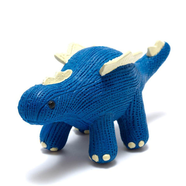 My First Stegosaurus - Natural Rubber Dinosaur Toy Blue