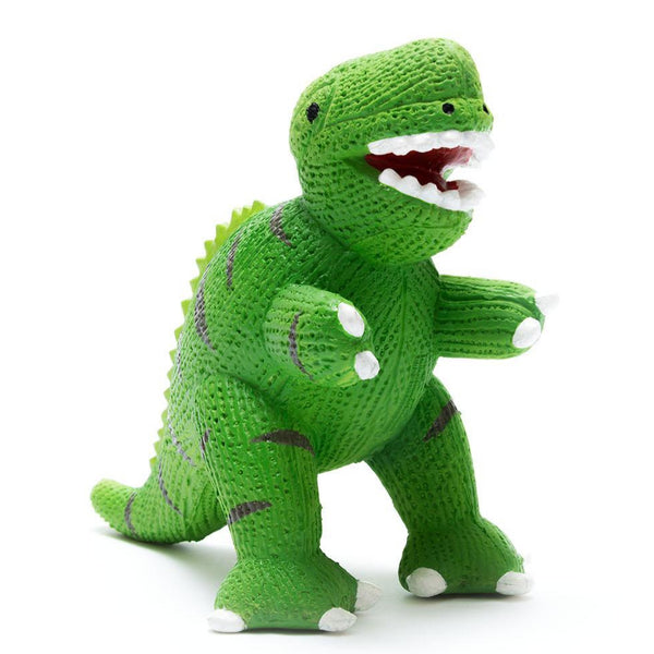 My First T Rex - Natural Rubber Dinosaur Toy Green