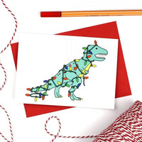 Christmas Tree-Rex Xmas card