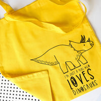 Dinosaur Tote Bag. Yellow shopper.