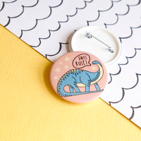 Boys Rule Dinosaur Button Badge