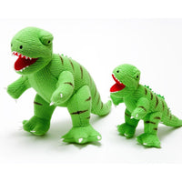 Knitted Large T Rex Dinosaur Soft Toy Green