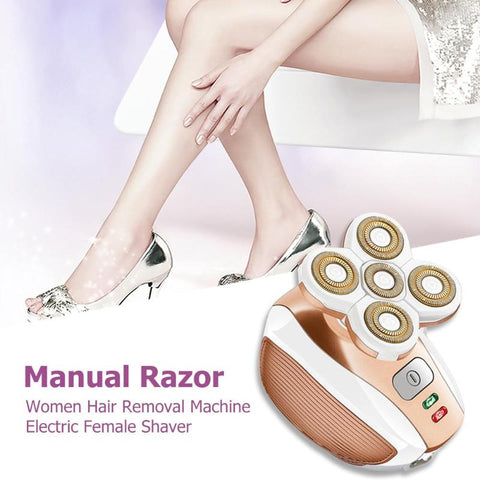 Electric Hair Remover : Shaver that adapts to every curve in 360 °