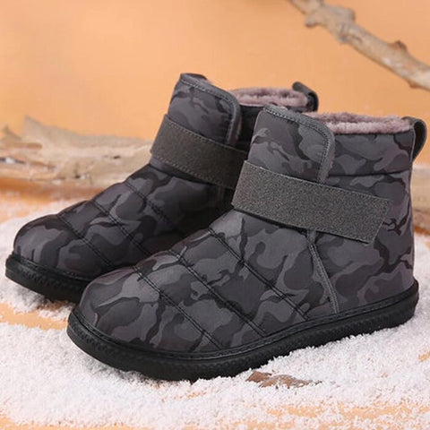 Image of Snow Boots Men & Women : Durable Camouflage and Trendy