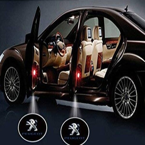 Image of Led Car Logo Projector: Wireless Laser Door Projector to Welcome Your Passengers - For Peugeot - Beeline-Xpress