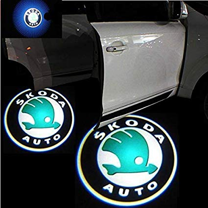 Led Car Logo Projector: Wireless Laser Door Projector to Welcome Your Passengers - For Skoda - Beeline-Xpress