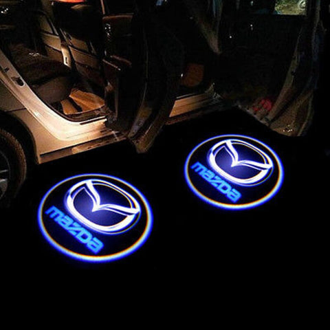 Image of Led Car Logo Projector: Wireless Laser Door Projector to Welcome Your Passengers - For Mazda - Beeline-Xpress