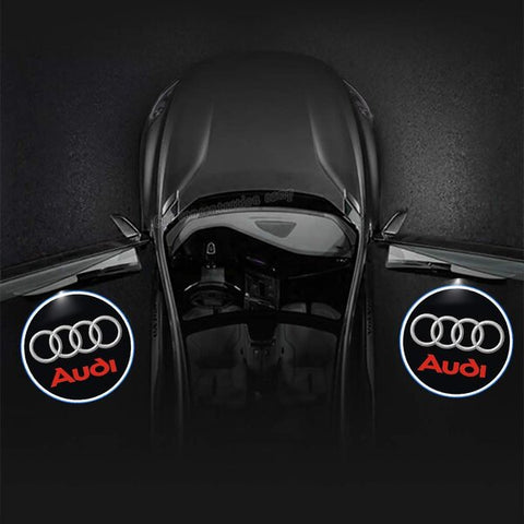 Image of Led Car Logo Projector: Wireless Laser Door Projector to Welcome Your Passengers - For Audi - Beeline-Xpress