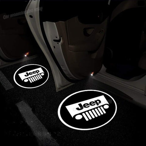 Led Car Logo Projector: Wireless Laser Door Projector to Welcome Your Passengers - For Jeep - Beeline-Xpress