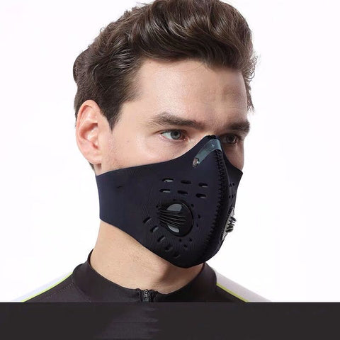 Image of Dust mask: Muffle filter with multi-layer air cleaner, Best for Ongoing Virus - Black / 1 PC - Beeline-Xpress
