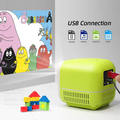 Image of Mini New Generation Video Projector : Suitable for Home, Party, Children and Office - Beeline-Xpress