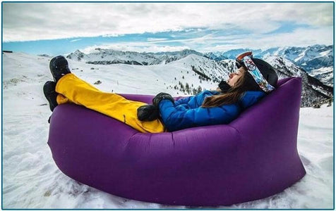 Quick-inflatable soft bag air couch sofa: Can be easily inflated within 10 seconds without a pump - Beeline-Xpress