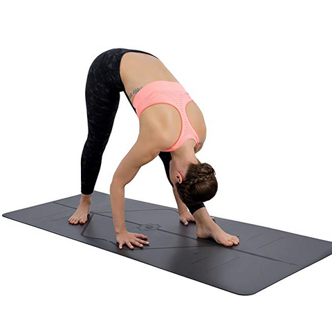 Image of Warrior Grip Yoga Mat: With Asana Align Body Alignment System - Beeline-Xpress
