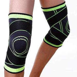 3D Knee Support: Provides Stability During Sports - Green / S - Beeline-Xpress