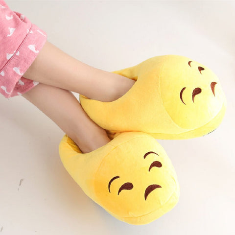 Image of Emoji Slippers : Warm Soft and Non-Slip Indoor Shoes