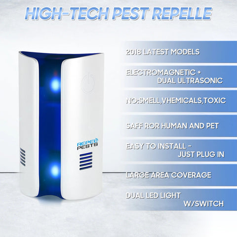 Image of Ultrasonic Non-Toxic Insect and Rodent Repeller - Beeline-Xpress