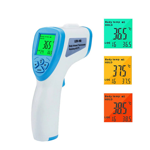 Contactless Body Infrared Thermometer: Temperature measurement for babies and adults - blue - Beeline-Xpress